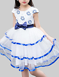 cheap -Kids Girls' Party Floral / Patchwork Lace / Bow Sleeveless Dress / Cute