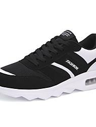 baratos -Homens sapatos Couro Ecológico Inverno Outono Conforto Mocassins e Slip-Ons para Casual Preto Branco e Preto Preto/Vermelho