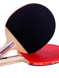 Недорогие -DHS® EF2 Ping Pang/Настольный теннис Ракетки Ластик Короткая рукоятка Длинная рукоятка Прыщи