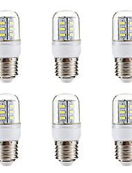 Недорогие -BRELONG® 6шт 3W 270lm E14 E26 / E27 LED лампы типа Корн 24 Светодиодные бусины SMD 5730 Тёплый белый Белый 220-240V