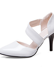 Недорогие -Жен. Обувь Лакированная кожа / Полиуретан Весна / Лето Туфли лодочки Обувь на каблуках На шпильке Заостренный носок Белый / Черный /