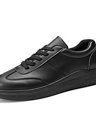 baratos -Homens sapatos Couro Ecológico Primavera Outono Conforto Tênis para Casual Branco Preto Vermelho