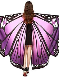 abordables -Cuento de Hadas Alas Disfraz de lujo Festival / Celebración Disfraces de Halloween Morado Amarillo Cian Arco Iris Rosa Mariposa Tapadera
