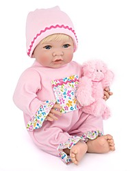 abordables -NPK DOLL Poupées Reborn Bébés Fille 14 pouce Silicone / Vinyle - réaliste, Cils appliqués à la main, Clous scellés et scellés Pour enfants Unisexe Cadeau / Ton naturel de la peau / Floppy Head