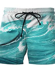 baratos -Homens Esportivo Boho Shorts Chinos Calças - Estampa Colorida