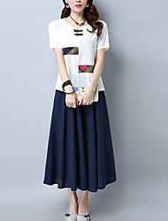 cheap -Women's Vintage T-shirt - Multi Color, Modern Style
