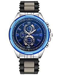 cheap -Men's Couple's Quartz Fashion Watch Sport Watch Casual Watch Chinese Casual Watch Silicone Band Luxury Casual Black Silver