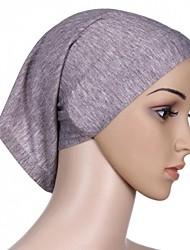 baratos -Mulheres Vintage Casual Algodão, Hijab Sólido