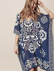 cheap -Women's Cover-Up - Floral Print