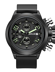 cheap -BAOGELA Men's Sport Watch / Fashion Watch Chinese Calendar / date / day / Three Time Zones / Stopwatch Silicone Band Casual / Fashion Black / Rose / Two Years