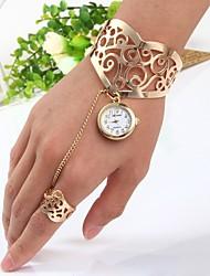 economico -Per donna Quarzo Orologio braccialetto Cinese Orologio casual Acciaio inossidabile Banda A schiava Oro