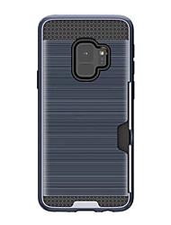 Недорогие -Кейс для Назначение SSamsung Galaxy S9 Бумажник для карт Кейс на заднюю панель Сплошной цвет Твердый Ластик