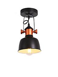 economico -Plafoniera industriale moderna Plafoniera semicircolare in metallo vintage lampada da soffitto a 1 luce