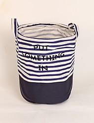 cheap -Fabric Round Cute Home Organization, 1pc Storage Baskets