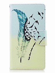 cheap -Case For Sony Xperia L2 Xperia XA2 Ultra Card Holder Wallet with Stand Flip Pattern Full Body Cases Feathers Hard PU Leather for Xperia