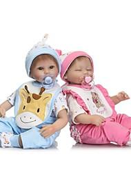preiswerte -Lebensechte Puppe Baby Mädchen 16inch Silikon - Neugeborenes, lebensecht, Niedlich Unisex Kinder Geschenk