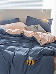 Poplun Cover Sets Jednobojni 3 komada Poly/Cotton 100% pamuk Yarn Dyed Poly/Cotton 100% pamuk 1pc duvet Cover 1pc Sham 1pc Stan list