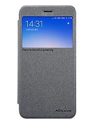 Недорогие -Кейс для Назначение Xiaomi Redmi 5A с окошком Флип Матовое Чехол Сплошной цвет Твердый Кожа PU для Redmi 5A