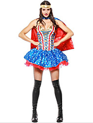 cheap -Super Heroes Witch Halloween Carnival Birthday Oktoberfest Festival / Holiday Halloween Costumes Ink Blue Color Block Vampires Cosplay