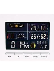 baratos -Termômetro inteligente receptor despertador sensor de temperatura e umidade higrômetro 1 pacote lcd on / off escritório interior cozinha casa ao ar