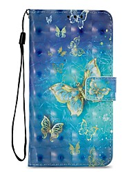 cheap -Case For Xiaomi Redmi 5 Redmi 5 Plus Card Holder Wallet with Stand Flip Magnetic Full Body Cases Butterfly Hard PU Leather for Xiaomi