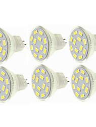 billiga -SENCART 6pcs 6W 450lm G4 / MR11 LED-spotlights MR11 12 LED-pärlor SMD 5730 Dekorativ Varmvit / Kallvit 12-24V