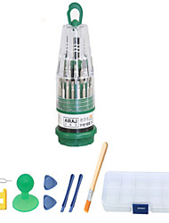 economico -Cellulare Kit di strumenti di riparazione Magnetica 45 in 1 Pennello Cacciavite Plastica / Stianless Steel Pry Graffetta per estrarre Sim