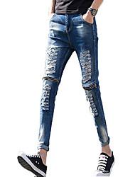 cheap -Men's Jeans Pants - Color Block Print