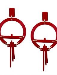 Недорогие -Жен. Серьги-слезки - На каждый день Мода Белый Черный Красный Зеленый Синий Крест Геометрической формы Серьги Назначение На выход Для