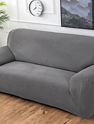 Недорогие -Современный 100% полиэстер, жаккард Накидка на диван для двоих, Простой Однотонный С принтом Чехол с функцией перевода в режим сна