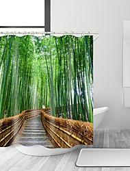 abordables -Rideaux de douche et anneaux Rustique Polyester Nouveauté Fabrication à la machine Imperméable