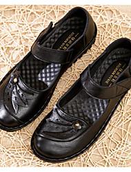 Недорогие -Жен. Обувь Искусственное волокно Весна / Осень Удобная обувь На плокой подошве На плоской подошве Черный / Коричневый