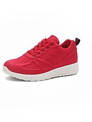 preiswerte -Damen Schuhe Wildleder Winter Komfort Sneakers Runde Zehe Schnürsenkel für Schwarz / Grau / Rot