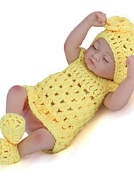 Недорогие -NPK DOLL Куклы реборн Девочки 12 дюймовый Полный силикон для тела Силикон Винил - как живой Ручные прикладные ресницы Гофрированные и запечатанные ногти Детские Универсальные Игрушки Подарок