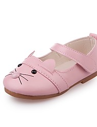 Недорогие -Девочки Обувь Полиуретан Кожа Весна Лето Удобная обувь На плокой подошве для Повседневные Для праздника Белый Черный Розовый