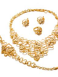 preiswerte -Damen vergoldet Schmuck-Set 1 Halskette / 1 Armreif / 1 Ring - Erklärung / Modisch Kreisform Gold Schmuckset Für Hochzeit / Party