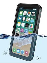 Недорогие -Кейс для Назначение Apple iPhone X Защита от удара Водонепроницаемый Полупрозрачный Чехол Сплошной цвет Твердый пластик для iPhone X