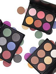 cheap -6pcs EyeShadow Cute / Waterproof / Palette Combination / Dry / Normal Shadow Powder Thick Daily Makeup / Halloween Makeup / Party Makeup