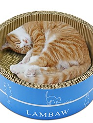 cheap -Cats Beds Scratch Art Paper & Papercrafting Pet Liners Solid Creative Trainer Relieves Stress Durable Coffee Brown Blue For Pets