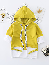 cheap -Baby Unisex Daily Solid Blouse, Cotton Spring Fall Casual Active Long Sleeves Red Yellow