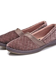 cheap -Women's Shoes Fleece Spring / Fall Fluff Lining Flats Flat Heel Round Toe / Closed Toe Dark Blue / Nude