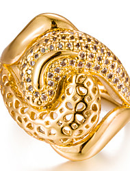 cheap -Women's Cubic Zirconia Band Ring - Gold Plated Fashion 7 / 8 / 9 Gold For Wedding / Gift