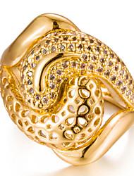 Недорогие -Жен. Цирконий Позолота Кольцо - Геометрической формы Мода Подарок Назначение Свадьба Подарок