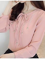 abordables -Mujer Básico Estampado Blusa Un Color