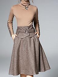 女性用 シース ドレス - ベーシック, ソリッド