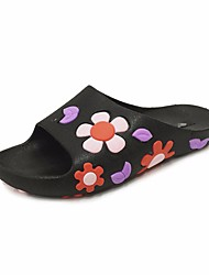 cheap -Women's Shoes PVC Spring Summer Comfort Slippers & Flip-Flops Low Heel for Black Red Green