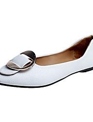 Недорогие -Жен. Обувь Ткань Осень Удобная обувь На плокой подошве На плоской подошве Заостренный носок Черный / Бежевый / Темно-русый