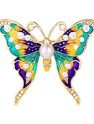 preiswerte -Damen Broschen - Schmetterling, Tier Süß Brosche Silber / Golden Für Alltag / Verabredung