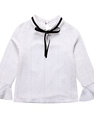 cheap -Kids Girls' Simple Solid Colored / Print Lace Long Sleeve Cotton Shirt / Cute