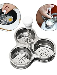 cheap -Japanese Stainless Steel DIY For Microwave Oven Home Kitchen Tool Cooking Utensils Egg Meat Steamer, 1pc